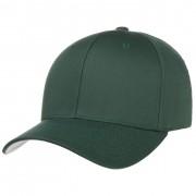 Cappellishop Spandex Flexfit Cap in verde scuro, Gr. L/XL (58-61 cm)