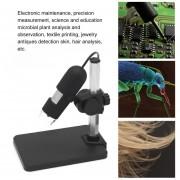 EH 400X Microscopio Digital AV400 Lupa Construido En 8 LED De Luz 2.0MP AV Salida - Negro Y Plata