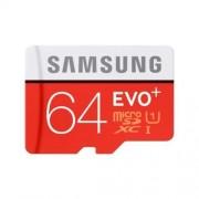 Carte Mémoire Samsung Micro Sdxc Evo+ 64 Go Class 10 Uhs Avec Adaptateur Sd