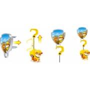Set de joaca figurina mecanica Rubble si insigna 3D Patrula Catelusilor
