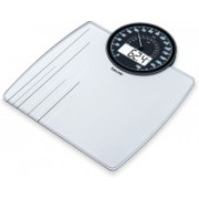 Beurer Analogue And Digital Dual Display Weighing Scale(White)