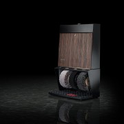 Černo-hnědý čistič bot Polifix 3, Heute (palisandr)