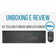 Teclado e Mouse Wireless DELL KM636 Preto (DEKM636PTO)