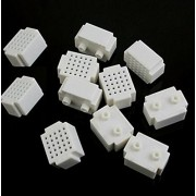 AST Works 5pcs Mini 25 Points Breadboard Solderless Prototype Tie-Point White CA New