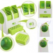 Mini Small Fan Cooling Portable Desktop Dual Bladeless Air Cooler USB New
