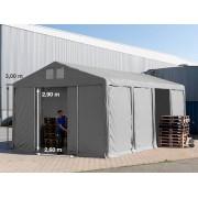 TOOLPORT Storage Tent 6x8m PVC 550 g/m² grey waterproof