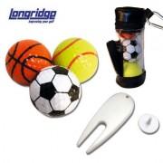 Mini Golfbag mit 3 witzigen Sport Golfbällen