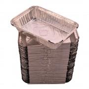 Caserole Aluminiu, 920 ml, 100 Buc/Set, 215x147x43 mm, Dreptunghiulare, Caserola Aluminiu de Unica Folosinta, Caserola pentru Catering, Caserole pentru Fast-Food, Caserole Dreptunghiulare de Aluminiu, Set de Caserole din Aluminiu, Vesela Unica Folosinta