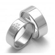 Snubní ocelové prsteny ZERO Collection rz08002-rz08000