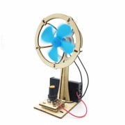 Jucarie educationala copii model Ventilator DIY kit experiment stiintific Puzzel 3D din lemn cu motoras interactiva 007