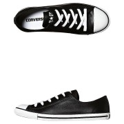Converse Chuck Taylor Womens All Star Dainty Leather Shoe Black
