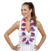 Merkloos Hawaii krans rood/wit/blauw bloemen slinger
