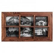Collage fotolijst Andy - bruin - 39,5x69x3,5 cm - Leen Bakker