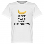 Retake Keep Calm We're All Monkeys T-Shirt - L
