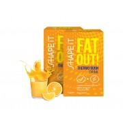 Sensilab Fat Out! Thermo Burn Drink 1+1 GRATIS Fatburner-Getränk mit Thermo-Effekt Schnell Fett verbrenen Orangengeschmack 2x 15 Beutel Sensilab