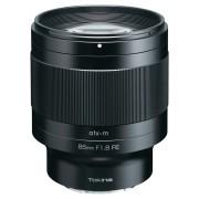 Pachet Tokina atx-m 85mm f 1.8 FE obiectiv montura Sony E cu Filtru UV