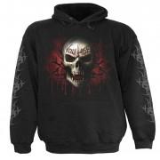 kapucnis pulóver férfi - Black - SPIRAL - T026M451