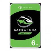 "Seagate Barracuda 1TB Disco Duro Interno HDD 3.5"" SATA 6Gb/s 7200 RPM 64MB Cache para computadora de sobremesa PC Embalaje abrefácil (ST1000DM010), Disco Duro Barracuda, 6 TB"