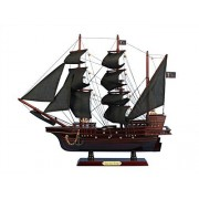 "Blackbeards Queen Annes Revenge 20"" Wood Pirate Ship Model Pirates Of The Caribbean Pirate Ship Decor Wood Pirate Ship Model Nautical Decoration Model Ship Sold Fully Assembled Not A Model Ship Kit"