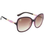 Clark n' Palmer Brown UV Protection Over-sized Women Sunglasses