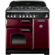 Rangemaster CDL90DFFCY/C Classic Deluxe Cranberry 90cm Dual Fuel Range Cooker