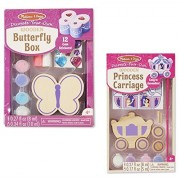 Maven Gifts: Melissa & Doug Decorate Your Own 2-Pack - DYO Butterfly Box with DYO Princess Carriage - Ages 3 And Up