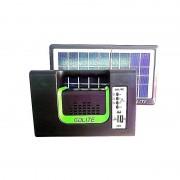 Sistem Iluminare LED cu Incarcare Solara, 3 Becuri LED si Lampa Portabila GD-10