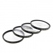 Close Up +1 / +2 / +4 / +10 Set de filtros de lentes - Negro (62mm / 4 PCS)