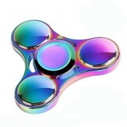 Jaz Deals Tri Toy Rainbow Colored Metal Hand Anti Stress Toy