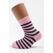 Gyerek zokni - Rózsa csíkos 33-34