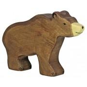 Fa játék állatok - barna medve