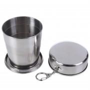 BRS 60ML 140ML 250ML Aleación De Aluminio Copa Plegable BRS - 37 250ML -Plata