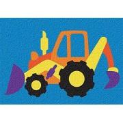 Lauri Toys Lauri Crepe Rubber Puzzle Backhoe