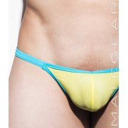 Mategear Mi Yong Ultra Low Front Ultra Thin Nylon Series Very Sexy Ultra G String Underwear Yellow 2071203
