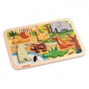 Janod ® Puzzle Chunky in legno - zoo, 7 pezzi