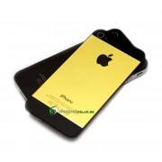 iPhone 4S Bakstycke Borstad Svart BT (Guld)