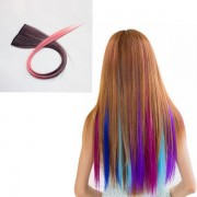 NAWOMI 1Pcs 2 Clip In Ombre Heat Friendly Resistant Synthetic Hair Extension Hair Piece