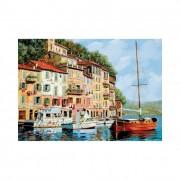 Educa La barca rossa alla Calata, Guido Borelli puzzle, 2000 darabos