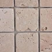 Mozaic Travertin Clasic Crem/Bej Tumbled Nechituit 4.8x4.8x1 cm
