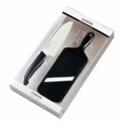 Комплект керамичен нож с ренде KYOCERA - черен