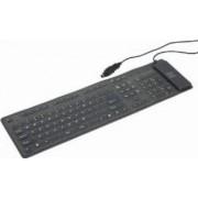 Tastatura flexibila Gembird KB-109F-B
