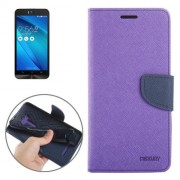 Color Matching Cross Texture Horizontal Flip Leather Case with Holder & Card Slots & Wallet for Asus Zenfone Selfie / ZD551KL(Purple)