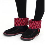 bottes fourées pour femmes - DC - BLACK/ATHLETE RED