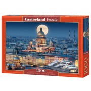 Puzzle Fullmoon over St. Isaac's Cathedral, 1000 piese