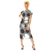 Roman Originals Spot Stripe Print Midi Shirt Dress