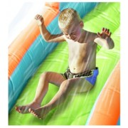 Saltea gonflabila cu piscina si tun cu apa Happy Hop