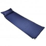 vidaXL Въздушен матрак 6 x 66 200 см с възглавница, цвят син