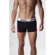 Grundies Active Boxer Brief Underwear Black/Red