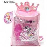 Rucsac cu accesorii pentru par Disney 3 New Princess, 8 piese, 3 ani+