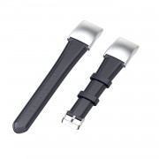 Oil Wax Genuine Leather Smart Watch Band Watchband Strap Replacement with Buckle for Huawei Honor 5 / Honor 4 ENC CRS-B19 CRS-B19S - Dark Blue